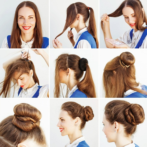 Elegant up-do Using Headband