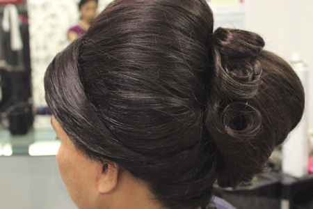 Indian Puff Juda Hairstyle