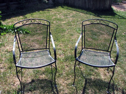 Steel Patio chairs