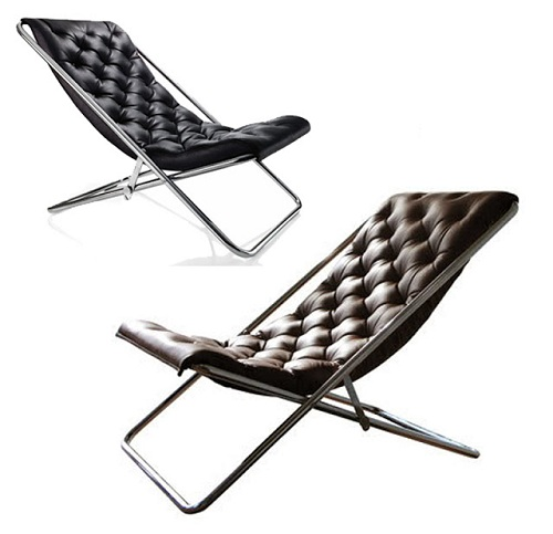 Relaxing Leather Deck Chairs
