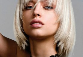 Blonde Bob Hairstyles with a Fringe