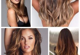 Brown Hair with Balayage Caramel Highlights