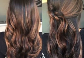 Caramel Highlights Ideas for Dark Brown Hair