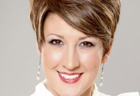 Short Straight Formal Layered Pixie  Hairstyle   -  Brunette Hair Color with Light Blonde Highlights