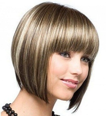 Chin Length Hair With Short Fringe Style