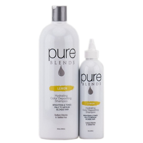 Pure Blends Lemon Color Depositing Shampoo